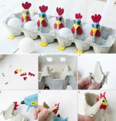 basteln-eierschachteln-hühner-basteln-eierkarton-bemalen-ostereier-osterkorb