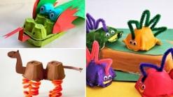basteln-eierschachteln-kinder-spielen-drache-kamel-dinosaurier-pfeifenputzer